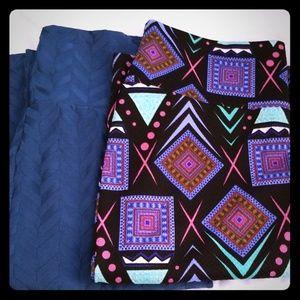 Set of two Lularoe Cassie skirts size medium